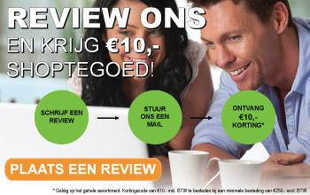 Review actie euro;10,- shoptegoed