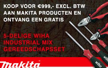 Gratis WIHA gereedschapsset bij aankoop van €999,- aan Makita producten