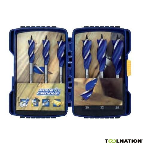 IRWIN 1921993 20 mm x 46 x Blue Groove Foret bois court