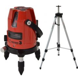 MC5 SD Rood kruislijnlaser 5 lijnen + statief 180 cm