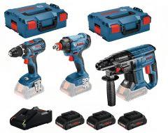 3 Tool Kit 18V - 3 machines + 3 x ProCore 18V 4,0Ah Li-Ion Comboset 0615990L57