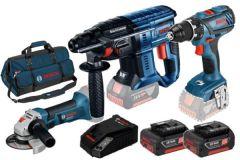 3 Tool Kit 18V - 3 machines + 2 x accu 18V 5.0Ah Li-Ion Comboset 0615990M0W