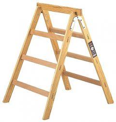 HAB 150 Houten sta-ladder + schraag