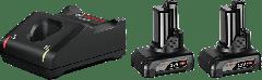 1600A01B20 Starterset 2 x GBA 12 V 6.0 Ah + GAL 12V-40 Professional