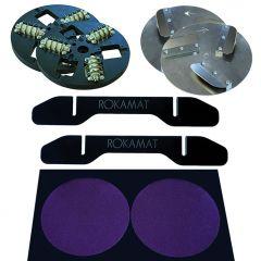 Voordeelset - Perforeerschijven, Schraperschijven, Steunvoeten en scherpplaat 200mm