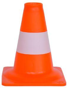 Verkeerskegel PVC oranje/wit - 20 cm