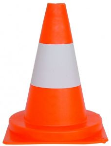 Verkeerskegel PVC oranje/wit - 30 cm