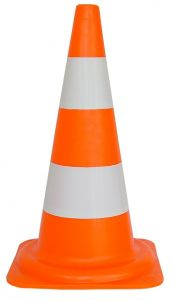 Verkeerskegel PVC oranje/wit - 50 cm