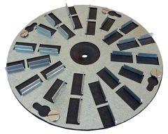 Opruwschijf 200 mm voor Stucwerk 2 st.