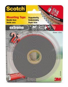 Extreme Mounting tape (montageband) Wit 19 mm x 5 mtr.