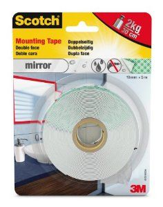 Mirror Mounting tape (montageband) Wit 19 mm x 5 mtr.