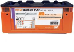 Slagplug met kraag HIT-M 6 x 65 /40P 400 stuks + 2 x XT2 sds plus boor 6x160-100