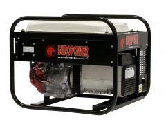 EP6000LN stroomaggregaat 6 KVA met Honda benzinemotor 2x 230Volt (16A) Hand startend 950000604