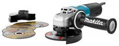 9565HRX1 230V Haakse slijper SJS 125 mm + 5 doorslijpschijven en gesloten beschermkap + 5 jaar dealer garantie!