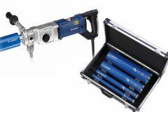 A-2031 Diamantboormachine Set 2000 Watt 70-162 mm + Koffer + 4 boren in koffer