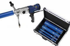 A-2032 Diamantboormachine Set 2000 Watt 70-162 mm + Koffer + 4 boren in koffer