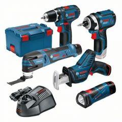 5 Tool Kit - GSR12V-15 + GOP12V-LI + GLI Powerled + GDR12V-105 + GSA12V-14 12V 3 x 2,0Ah in L-Boxx 0615990K11