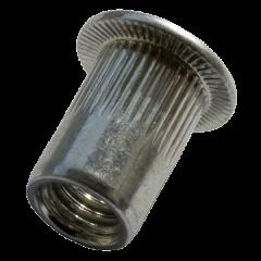 Blindklinkmoer Staal CK Gekarteld M8 0.5-3.0 50 stuks