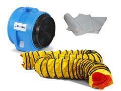 DAF7500LSAU/5 Axiaal ventilator + 1 stofzak + 1 luchttransportslang 5 m