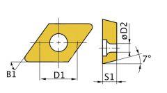 DCMT070204 Uitwendige/inwendige ruitvormige snijplaat