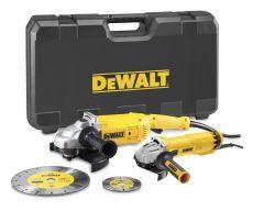 DWE492SDT-QS Haakse slijper Set - 230 mm 2200 Watt + 125 mm 1000 Watt