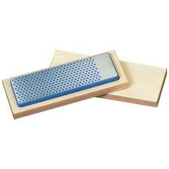 Universele diamant slijpsteen in houten box 150x52x16mm, D25 fijn, rood