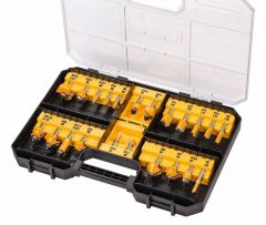 DT90017-QZ 22-delige frezenset in koffer 8mm schacht