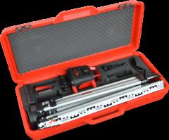Red Runner Case Set Rotatielaser incl ontvanger, statief, meetlat + koffer