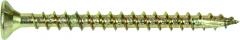 Bandschroef 4,0 x 45 Geel verzinkt Spaanplaat 1000 Stuks
