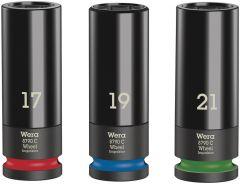 "Toolnation-Wera Wheel Impaktor C Set 1 Doppen set, met 1/2"" -aandrijving, 3-delig 05004595001-aanbieding"