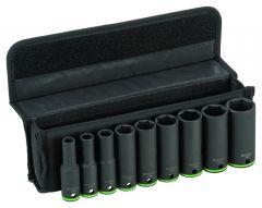 Toolnation-Bosch Blauw Accessoires 9-delige krachtdoppenset 77 mm; 10, 11, 13, 17, 19, 21, 22, 24, 27 mm-aanbieding