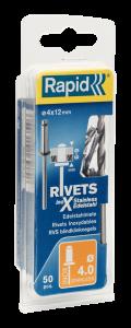 RVS blindklinknagels Ø4,0 x 12 mm 5000394 50 stuks