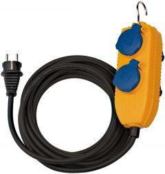 1151740010 Bouwplaatsen-kabel IP54 met contactdozenblok 10m zwart H07RN-F 3G1,5