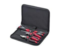 Gereedschapset monteur schroevendraaiers, zijkniptang, combinatietang 5-delig in etui (30824)