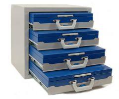 Kofferkast 54.4 met 4 plateau's excl. koffer