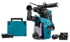 DHR243RTJW Combihamer 18 Volt 5,0 AH Li-ion + DX07 ingebouwde afzuiging met Hepa filter + 5 jaar dealer garantie!