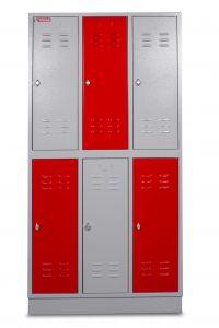 DEKLK32 Kleerkast 6 Deuren 890x500x1800mm