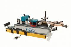 PEB250TRM Draagbare kantenverlijmer met lijmbak op stationaire tafel