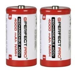 Oplaadbare batterijen C-Cell 4000mAh 2 stuks
