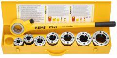 520017 Eva Set R 1/2-3/4-1-1 1/4-1 1/2 - 2 inch Handdraadsnij-ijzer met snelwisselsnijkoppen