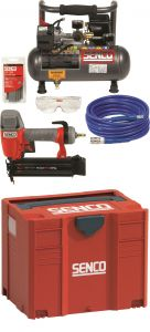 PC0964EUPS-Compressor PC 1010 + Bradnailer Finishpro 18 MG in systainer + 5mtr slang + brads