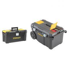"stst1-81697 Essentials Gereedschapswagen 50L + gereedschapskoffer 16"""