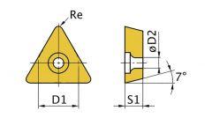 TCMT110204 Uitwendige/inwendige driehoekige snijplaat