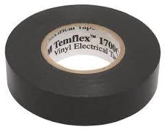 3M 1500 Temflex Vinyl Tape Zwart 19 mm x 20 mtr.