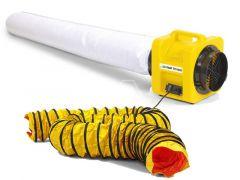TTV1500 Axiaal ventilator + stofzak + luchttransportslang 5 m