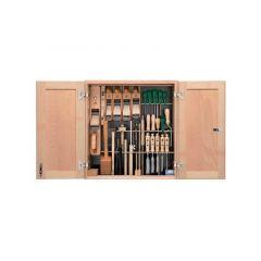 40-304 Gereedschapset 37-Delig voor de Timmerman in houten kast
