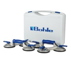 BOS3.0BL Blue line zuigheffer Set, 3 kops aluminium 100 kg