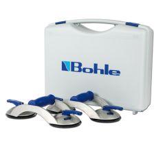 BOS2.0BL Blue line zuigheffer Set, 2-naps met dwarsgreep 70 kg