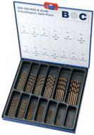 ME65 65-Delige set met Geslepen HSS-E (Co5) DIN 338 Cobalt Metaalboren in industrie-cassette.