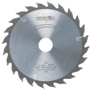 Mafell Zaagblad-HM, 120 x 1,2/1,8 x 20 mm, Z 24 , WZ